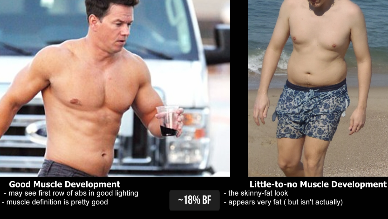 Both of these guys have 18% BF, for examplePNG.